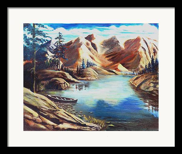 Rugged Mountains Framed Print featuring the print Nature by George Markiewicz