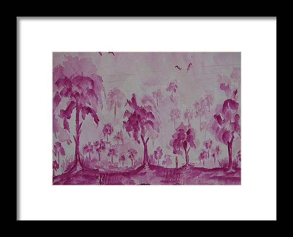 Nature Framed Print featuring the painting Nature In Illusion by Rima