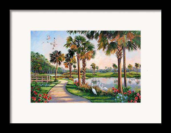 Landscape Framed Print featuring the painting Nature Preserve by Dianna Willman