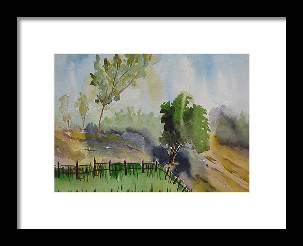 Greenary Framed Print featuring the painting Nature by Rima