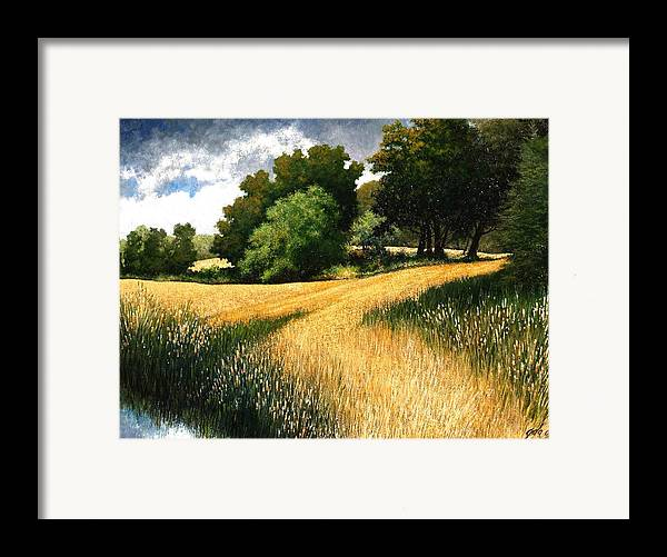 Landscape Framed Print featuring the painting Nature Walk Ridgefield Washington by Jim Gola