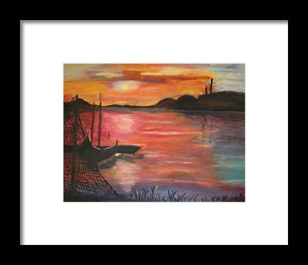 Seascape Framed Print featuring the painting Natures Glory by Mikki Alhart