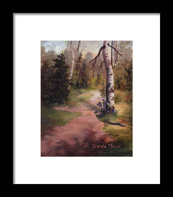Landscape Framed Print featuring the painting Natures' Trail by Brenda Thour