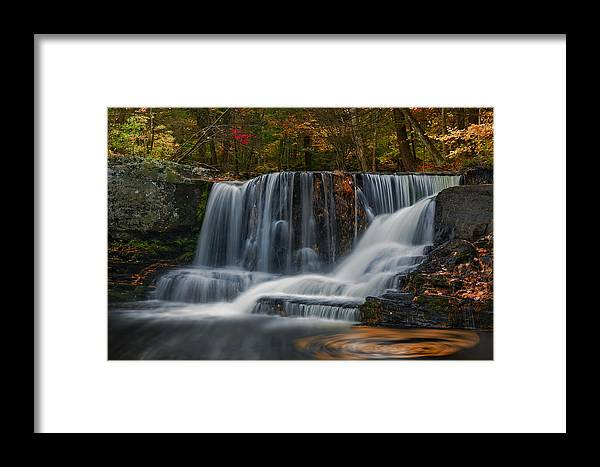 Waterfalls Framed Print featuring the photograph Natures Waterfall And Swirls by Susan Candelario