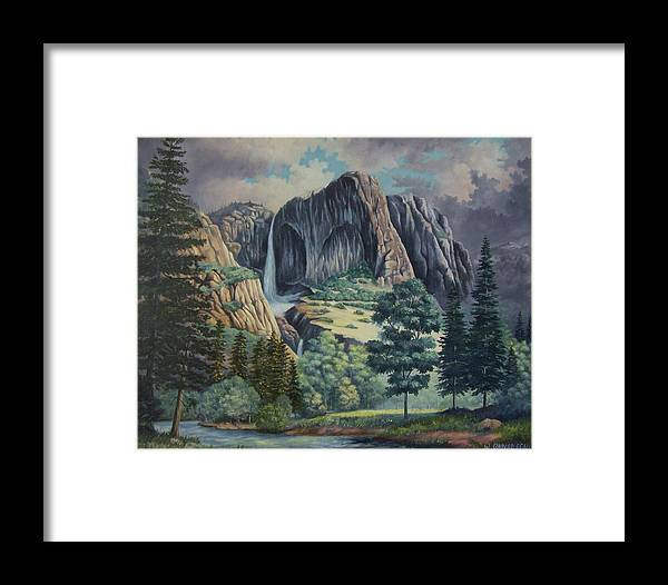 Landscape Framed Print featuring the painting Natures Wonder by Wanda Dansereau