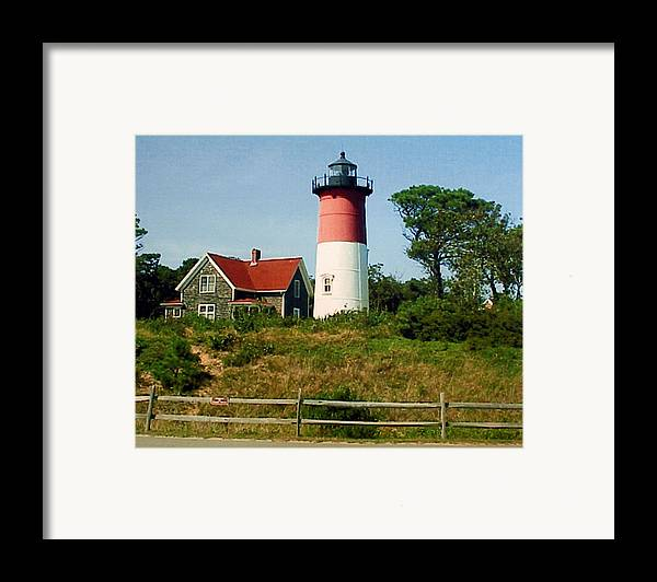 Landscape Photographs Framed Print featuring the photograph Nauset Lighthouse by Frederic Kohli