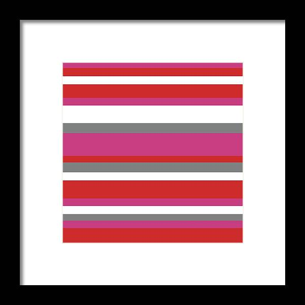 Nautical Stripes Framed Print featuring the digital art Nautical Stripes by Saadana Shanmukam