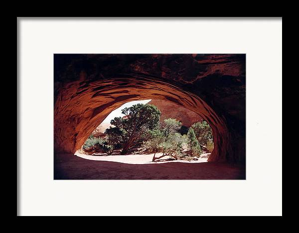 Utah Framed Print featuring the photograph Navajo Arch by Kathy Schumann
