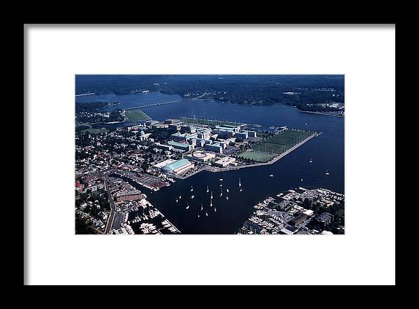 Md Framed Print featuring the photograph Naval Academy by Skip Willits