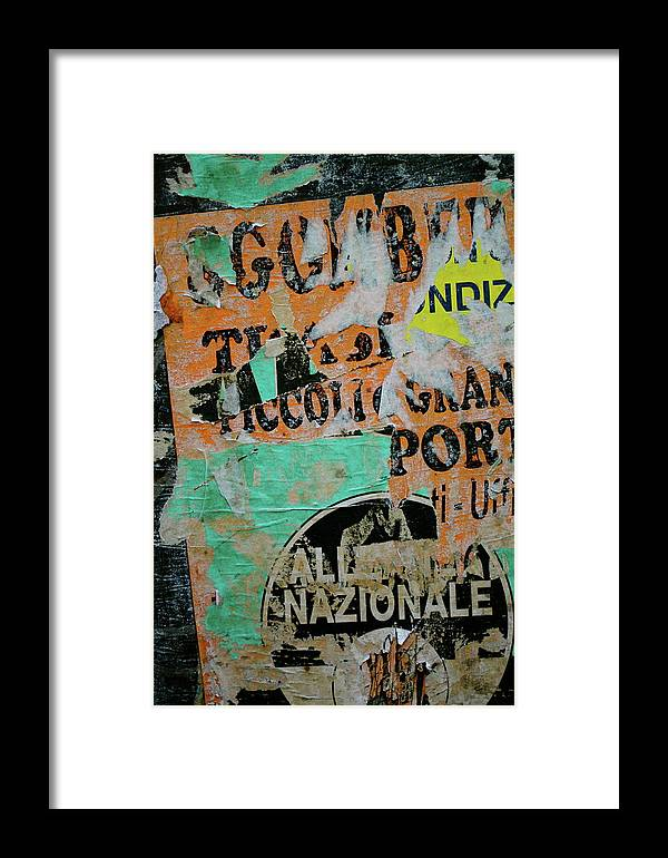Sign Framed Print featuring the photograph Nazionale by Jason Wolters