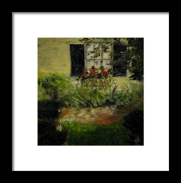 Window Box Framed Print featuring the painting Neal's Path by Wendie Thompson
