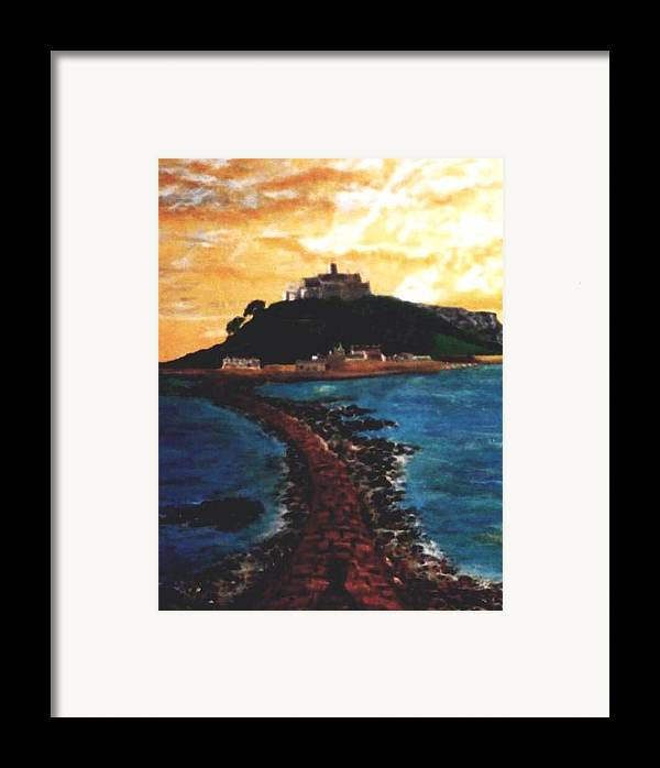 Beaches Framed Print featuring the painting Near Penzance St. Michaels Mount by Richard Hubal