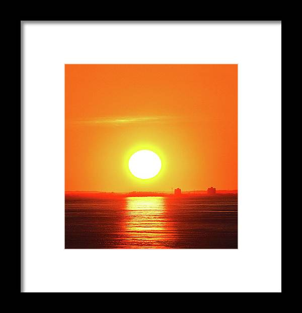 Abstract Framed Print featuring the photograph Near The Horizon Two by Lyle Crump