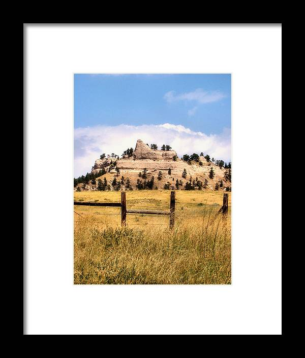 Plains Framed Print featuring the photograph Nebraska Buttes by Tingy Wende