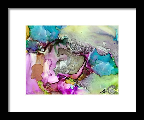 Space Framed Print featuring the painting Nebula 3 by Susan Kubes