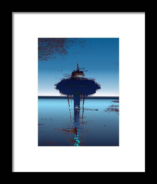 Seattle Framed Print featuring the digital art Needle In A Raindrop Stack 4 by Tim Allen