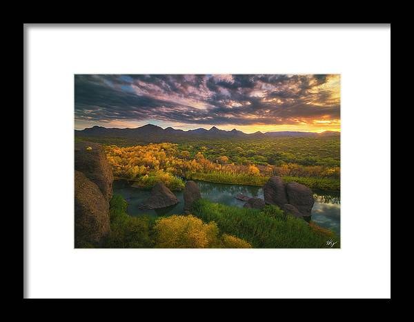Arizona Framed Print featuring the photograph Needle Rock Sunrise by Peter Coskun