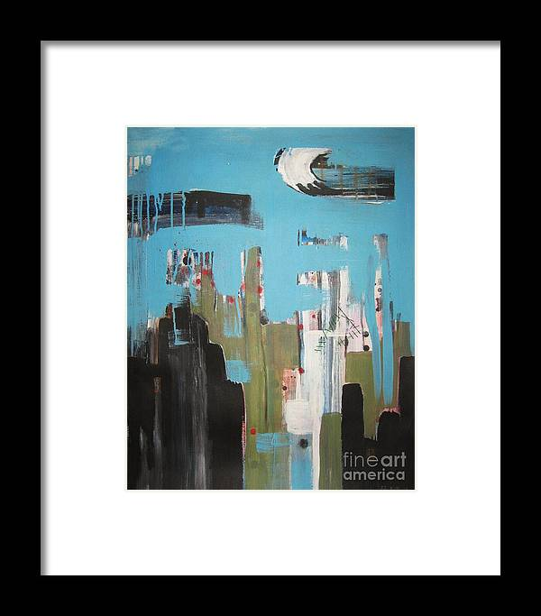 Abstract Paintings Framed Print featuring the painting Neglected Area by Seon-Jeong Kim