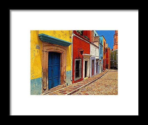 Darian Day Framed Print featuring the photograph Neighbors Of The Yellow House by Mexicolors Art Photography