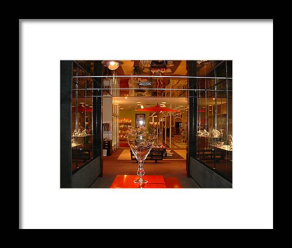 Crystal Department Framed Print featuring the photograph Neiman Marcus by Diane Wallace