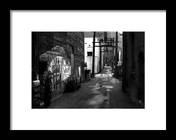British Columbia Framed Print featuring the photograph Nelson Bc Alley by Lee Santa