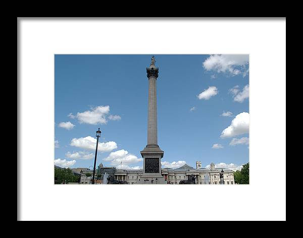 Trafalgar Framed Print featuring the photograph Nelsons Column by Chris Day