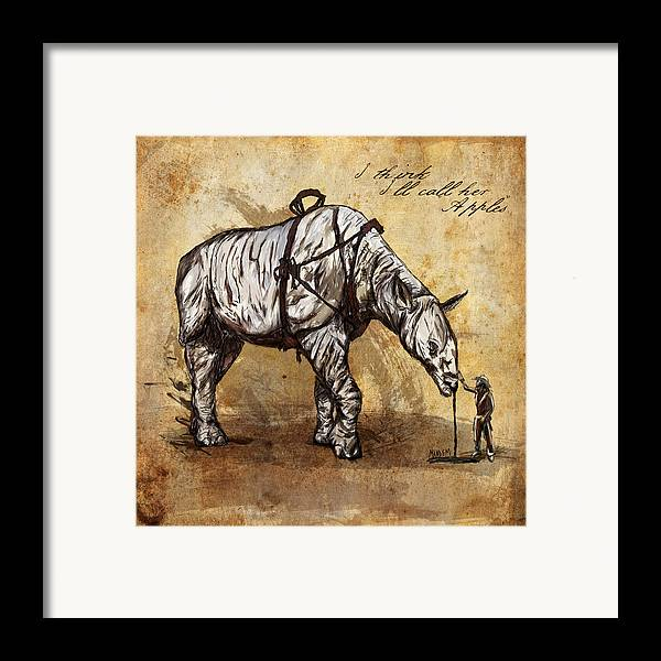 Cowboy Framed Print featuring the digital art Neobedouin - Cowboy by Mandem