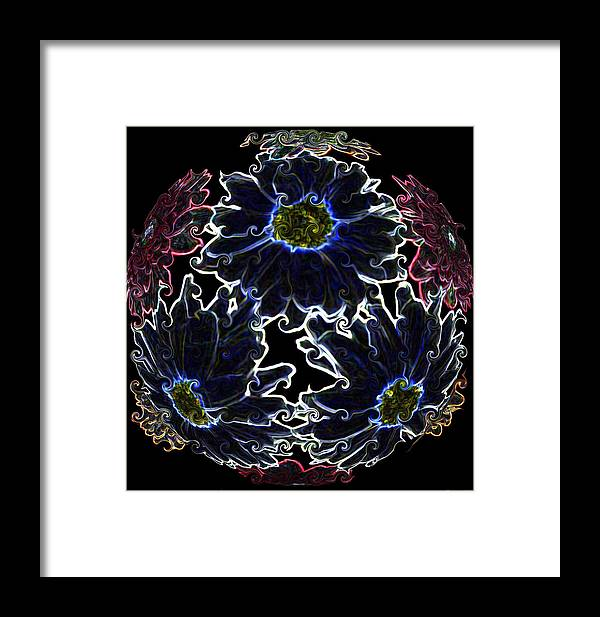 Botanical Framed Print featuring the photograph Neon Mums by Evelyn Patrick