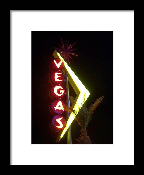 Fremont East Framed Print featuring the photograph Neon Signs 2 by Anita Burgermeister