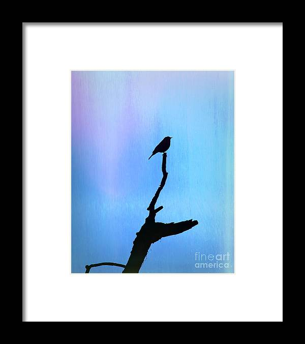 Silhouette Framed Print featuring the photograph Neon Silhouette by William Tasker