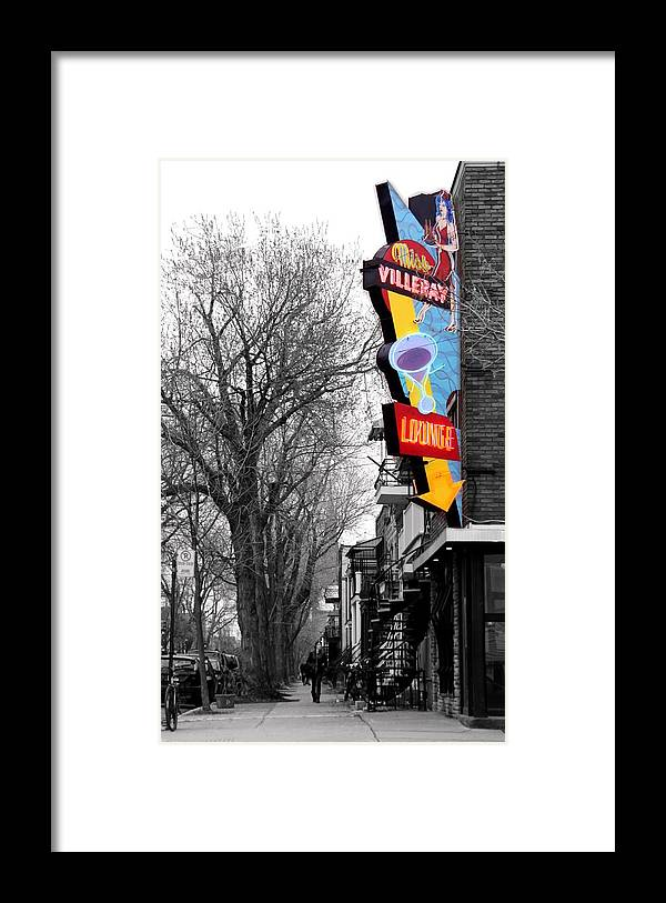 Lounge Framed Print featuring the photograph Neon Strip by Russell Styles
