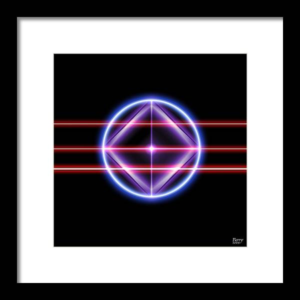 Neon Framed Print featuring the digital art Neonesq by Carl Perry