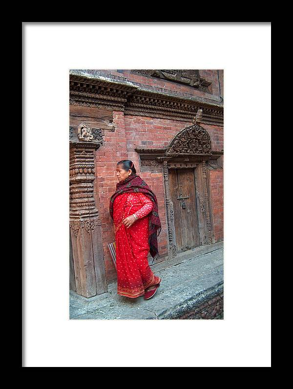 Old Lady Framed Print featuring the photograph Nepalese Woman by Dorota Nowak