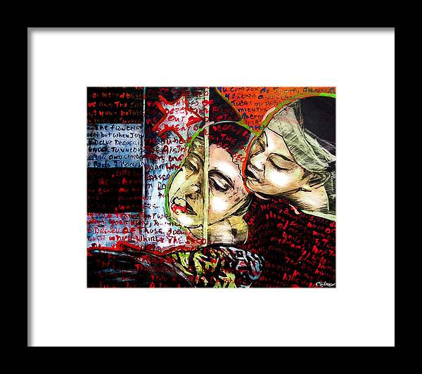 Framed Print featuring the mixed media Neruda Love Poem by Chester Elmore