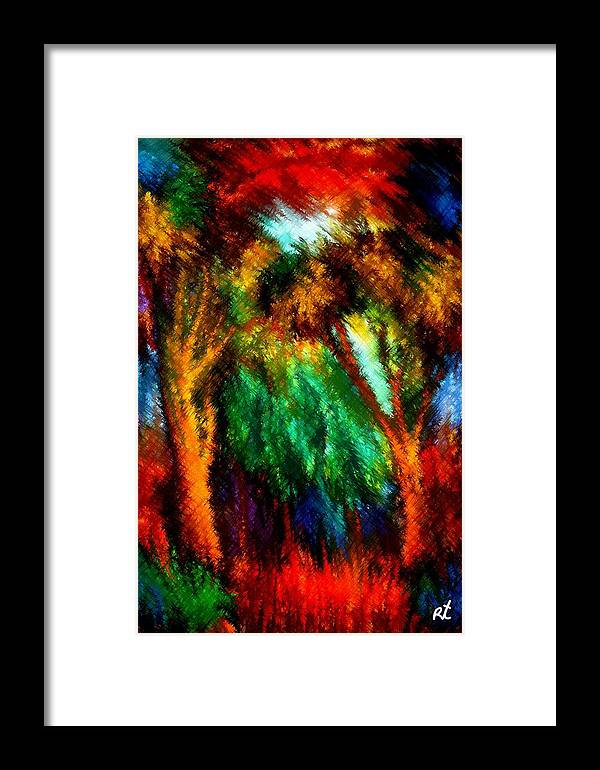 Forest Framed Print featuring the painting net by Rafi Talby