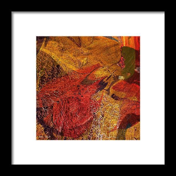 Photopainting Framed Print featuring the digital art Network 8 by Helga Schmitt