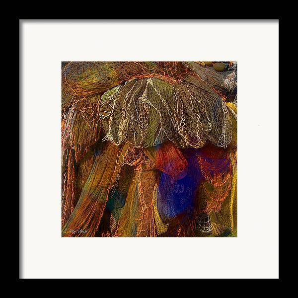 Photopainting Framed Print featuring the digital art Network 9 by Helga Schmitt