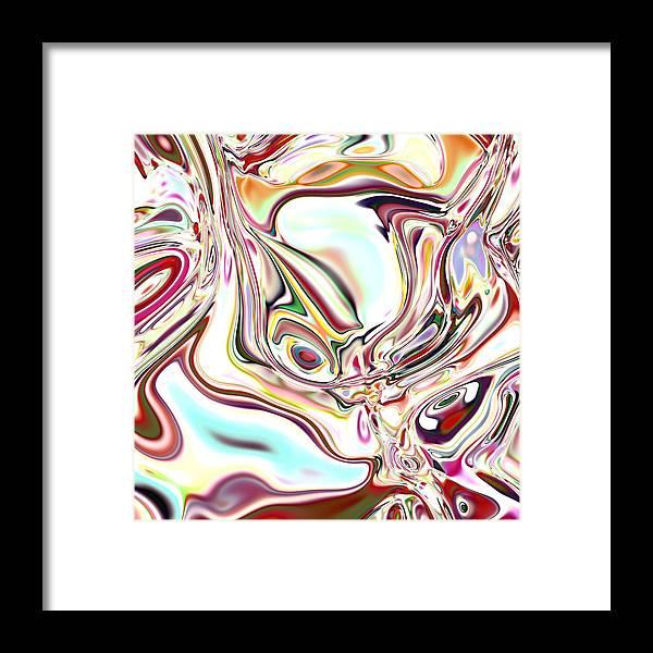 Framed Print featuring the digital art Neural Abstraction #11 by Evgeniy Babkin