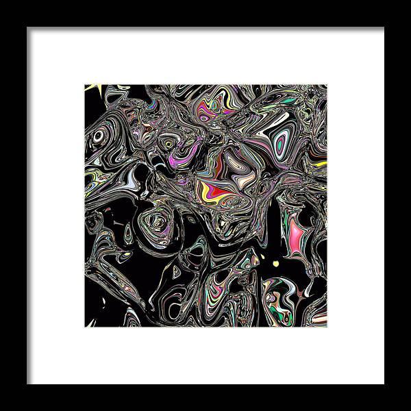 Framed Print featuring the digital art Neural Abstraction #13 by Evgeniy Babkin