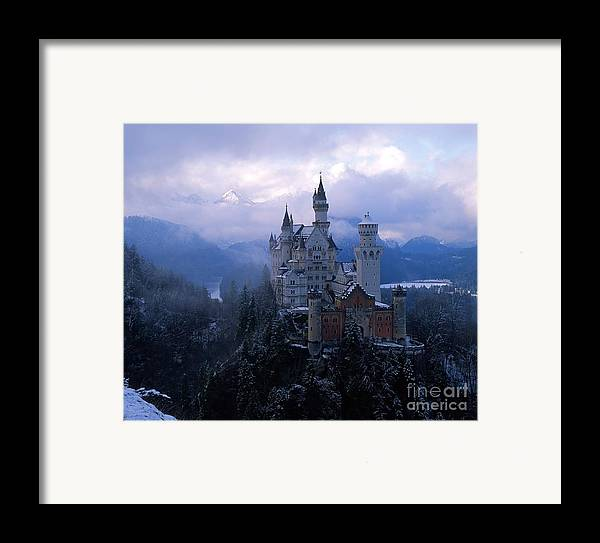 Castle Photographs Framed Print featuring the photograph Neuschwanstein by Don Ellis