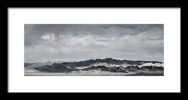 Nevada Framed Print featuring the photograph Nevada Mountains by Nancy Killam