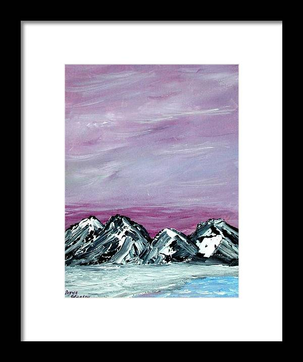 Landscape Framed Print featuring the painting Nevada Sky by Margie Byrne