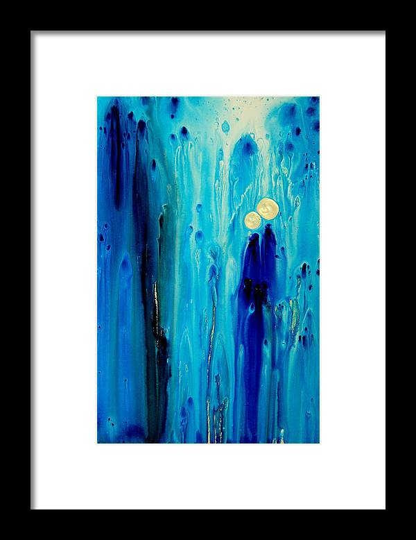Abstract Art Framed Print featuring the painting Never Alone by Sharon Cummings