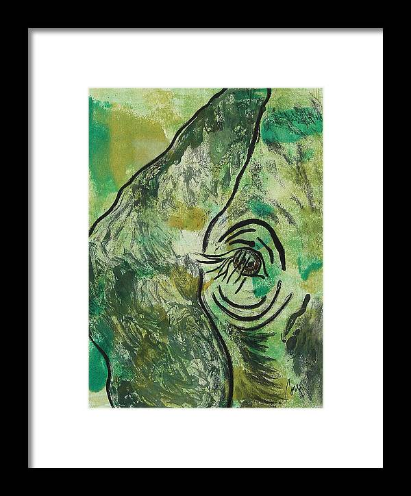 Monotype Framed Print featuring the mixed media Never Forgotten by Cori Solomon