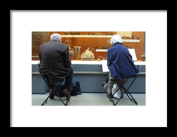Jez C Self Framed Print featuring the photograph Never Leave Home Without Your Folding Seat by Jez C Self