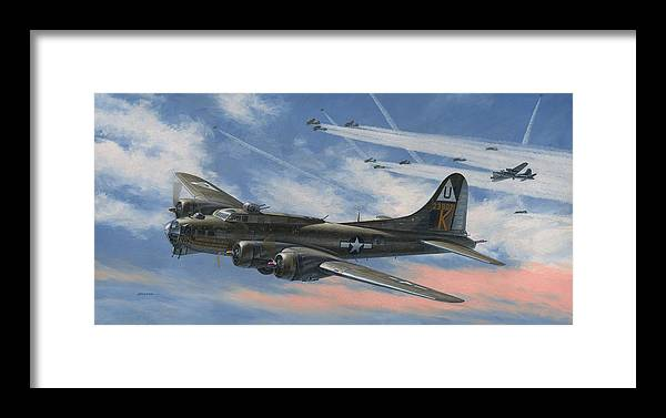 Boeing Framed Print featuring the painting Never Turned Back by Wade Meyers