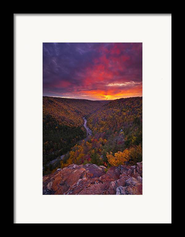 West Virginia Framed Print featuring the photograph Neverending Autumn by Joseph Rossbach
