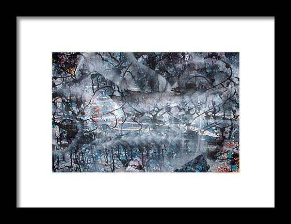 Abstract Framed Print featuring the painting Neverwas... by Leigh Odom