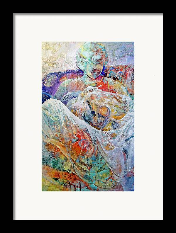Parent Framed Print featuring the painting New Arrival by Dale Witherow