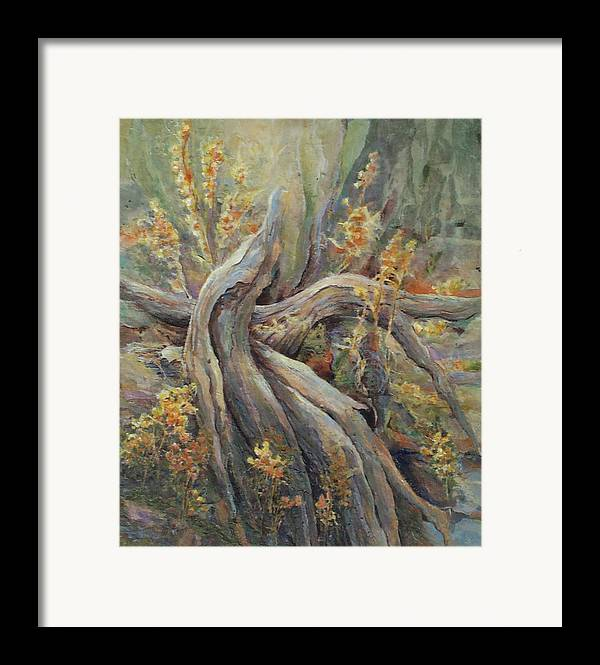 Landscape Framed Print featuring the painting New Beginnings by Don Trout